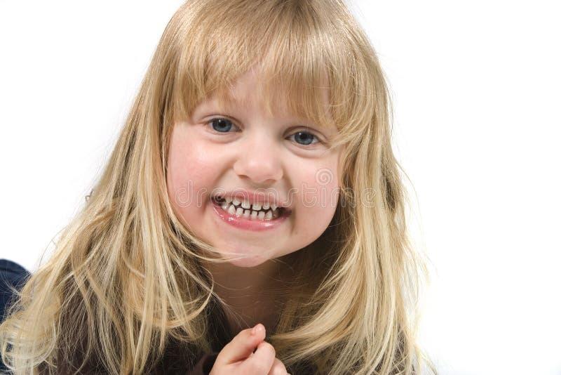 Het Meisje van de blonde in de Hoed van de Veedrijfster royalty-vrije stock fotografie