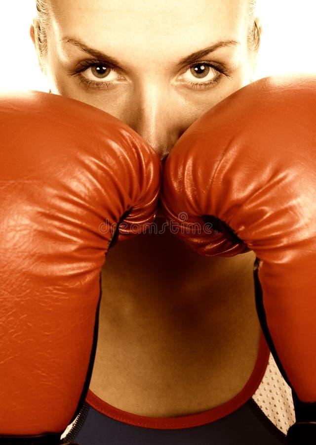 Het meisje van de bokser stock afbeelding
