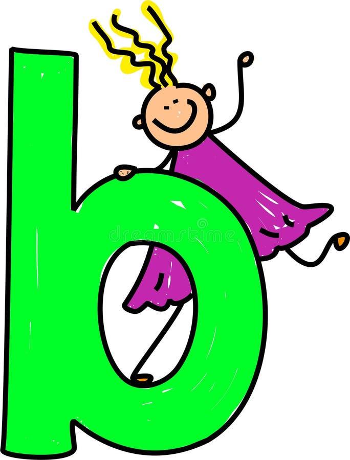Het meisje van de brief B stock illustratie