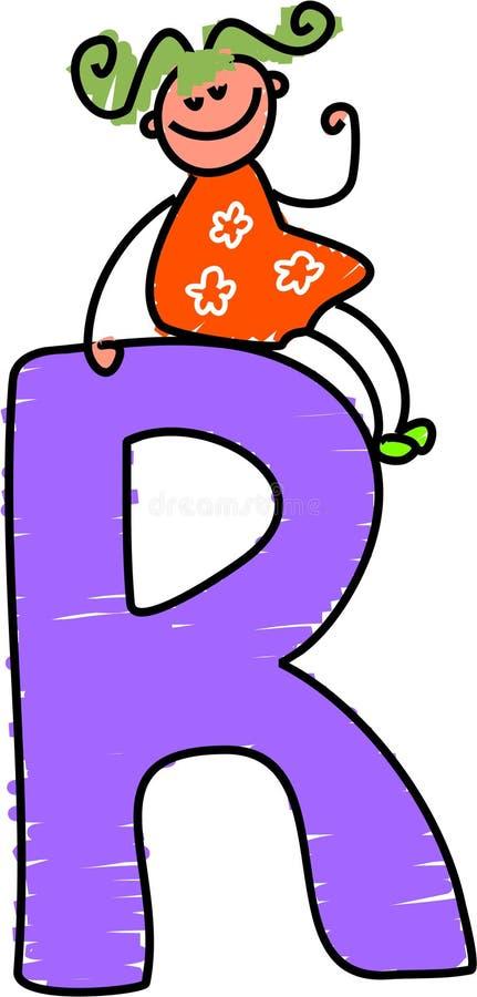 Het meisje van de brief R vector illustratie