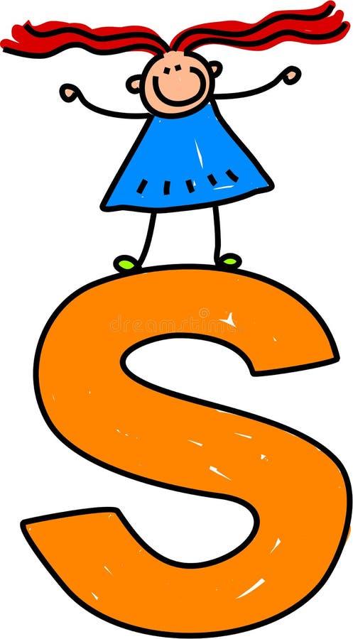 Het meisje van de brief S vector illustratie