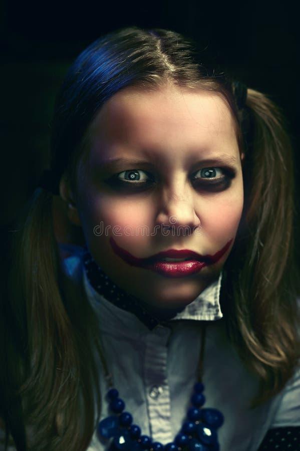 Het meisje van de clowntiener royalty-vrije stock foto