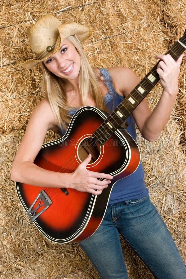 Het Meisje van de country muziek royalty-vrije stock foto