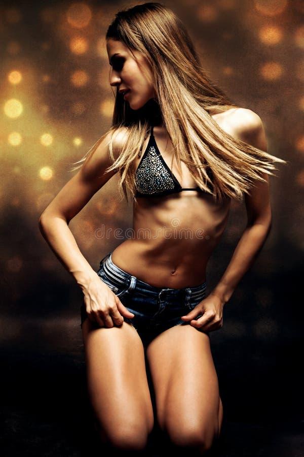 Het meisje van de dans royalty-vrije stock afbeelding