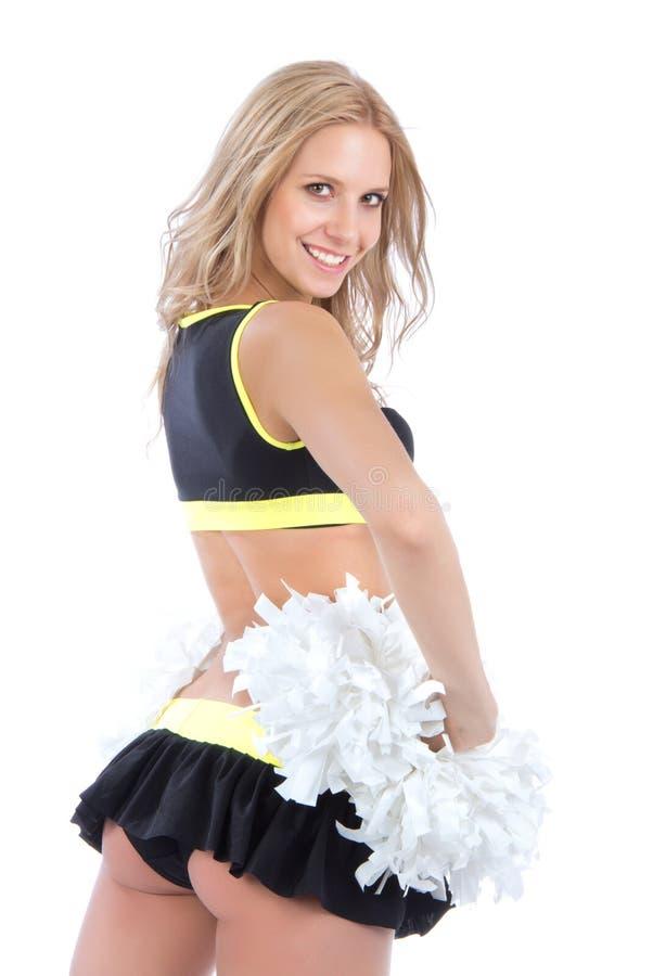 Het meisje van de de vrouwendanser van Cheerleader stock fotografie