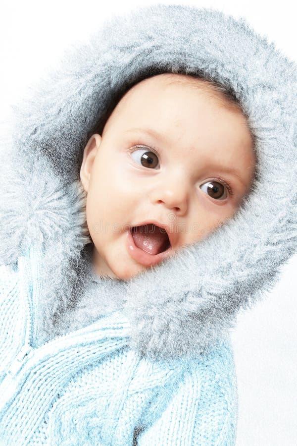 Het meisje van de de winterbaby royalty-vrije stock foto