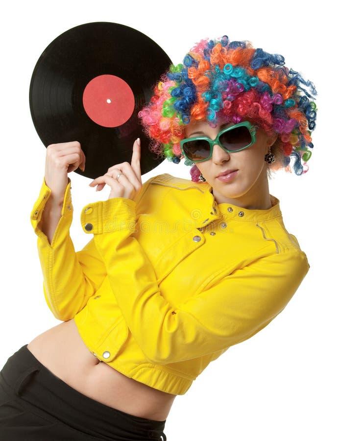 Het meisje van de disco royalty-vrije stock afbeeldingen