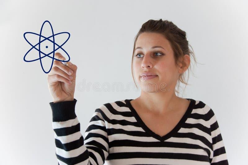 Het meisje van de energie stock fotografie