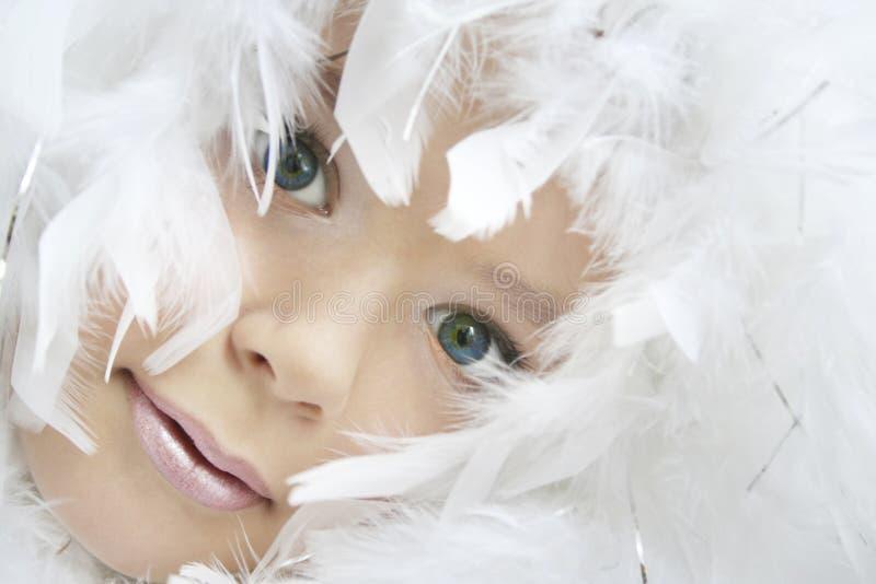 Het meisje van de engel royalty-vrije stock afbeelding