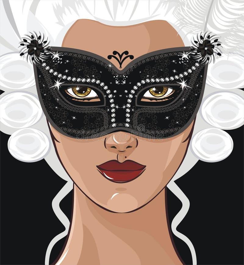 Het meisje van de geheimzinnigheid royalty-vrije illustratie