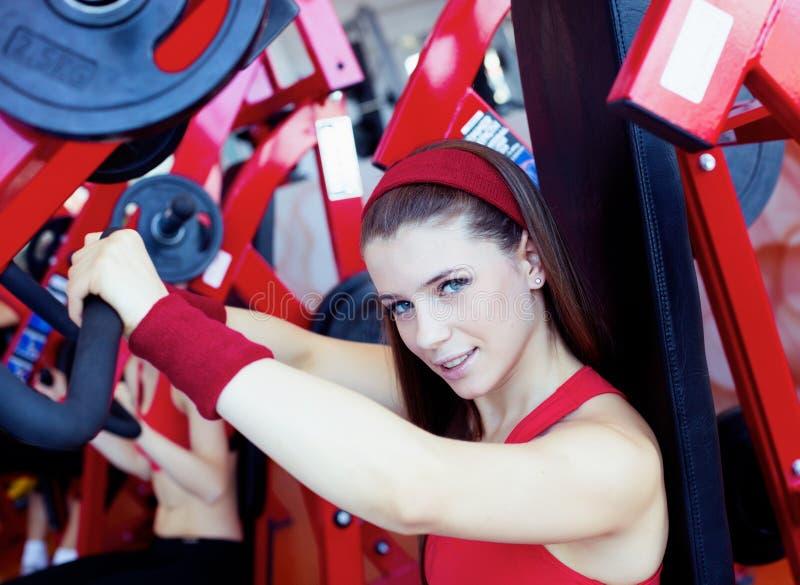 Het meisje van de geschiktheid royalty-vrije stock foto