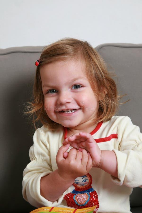 Het meisje van de glimlach stock foto