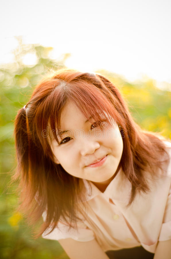 Het meisje van de glimlach royalty-vrije stock fotografie