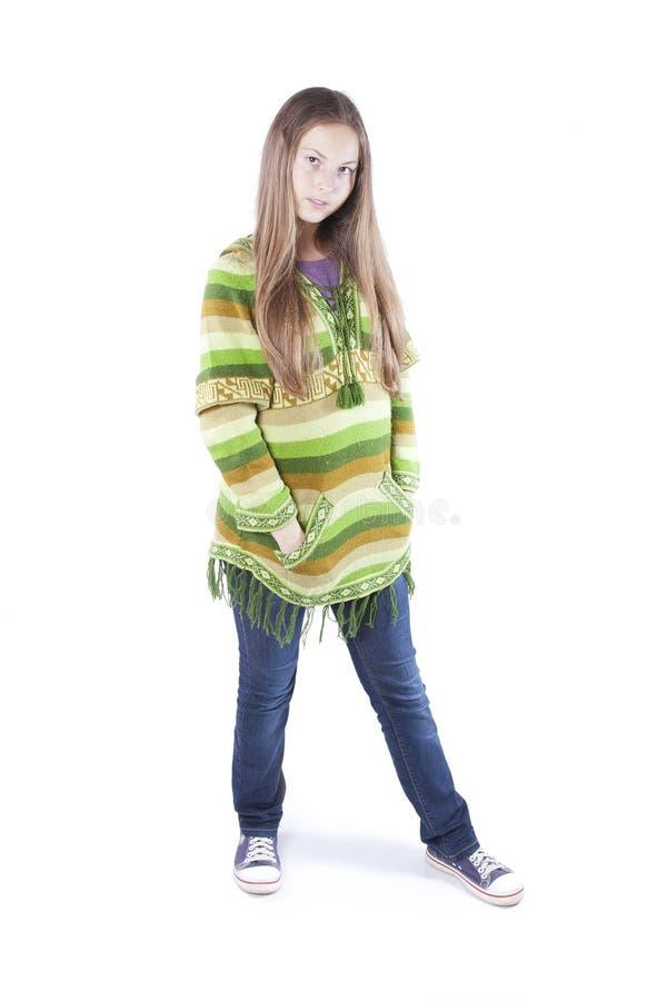 Het meisje van de hippie stock afbeeldingen