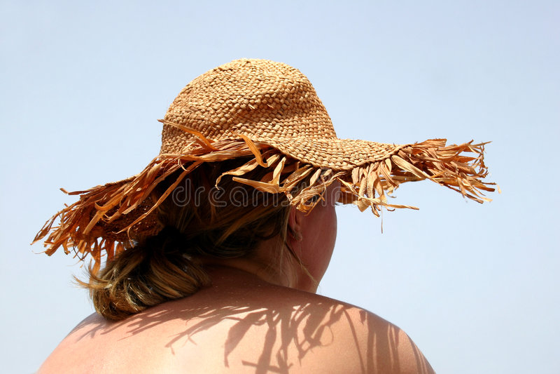 Het Meisje van de Hoed van de zon royalty-vrije stock afbeelding