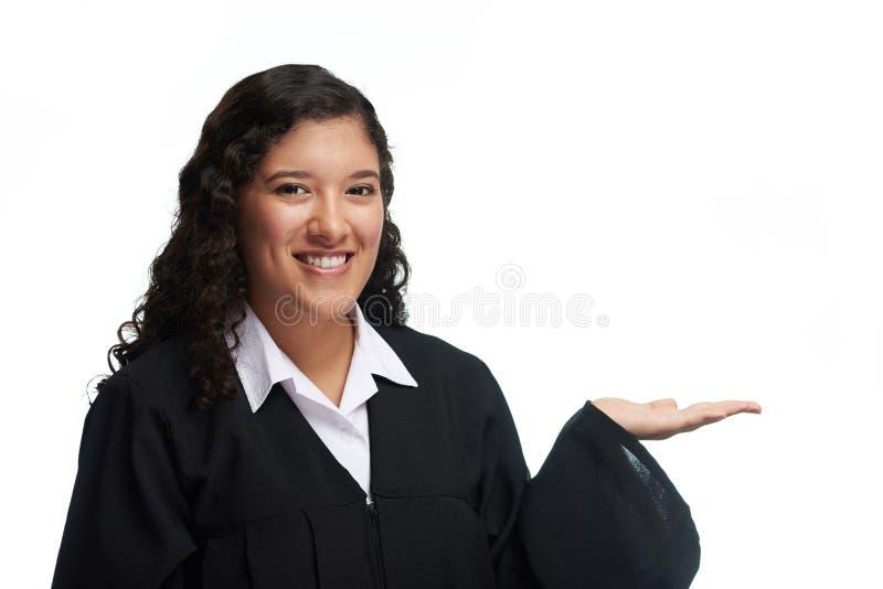 Het meisje van de jonge gediplomeerdestudent stock fotografie