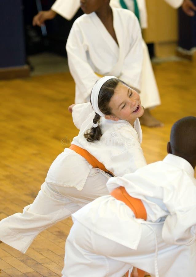 Het meisje van de karate royalty-vrije stock afbeeldingen