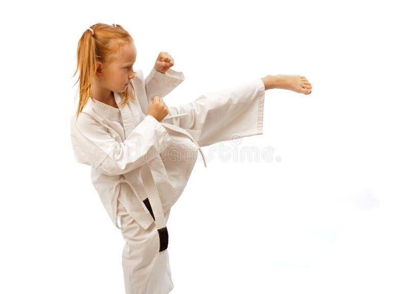Het meisje van de karate royalty-vrije stock fotografie