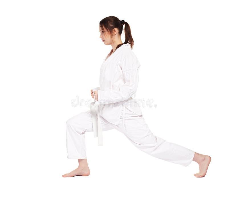 Het meisje van de karate stock foto