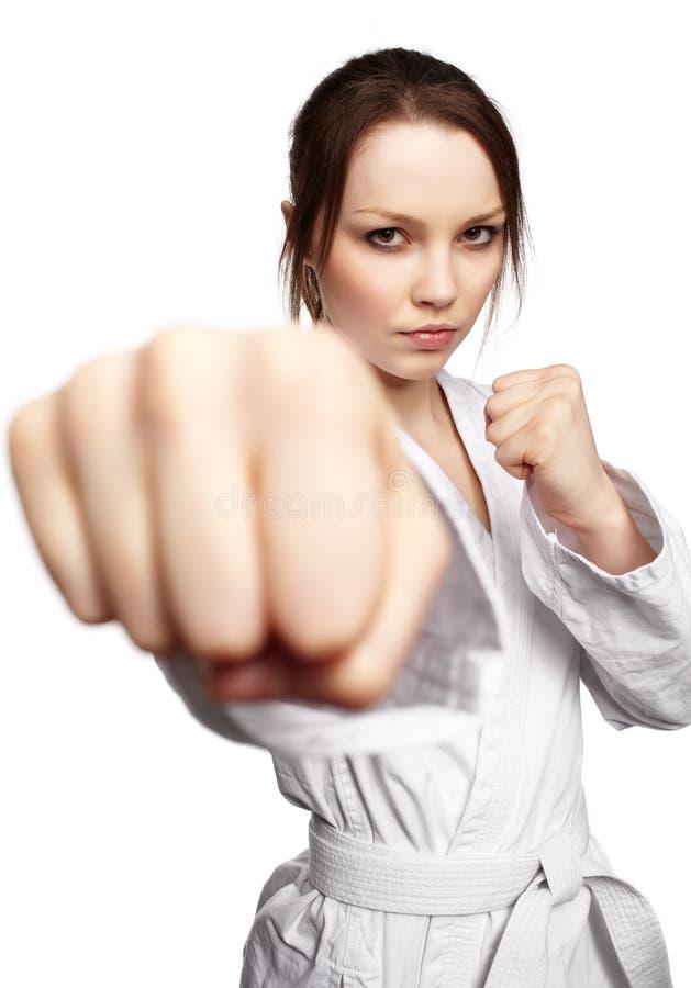 Het meisje van de karate stock foto's