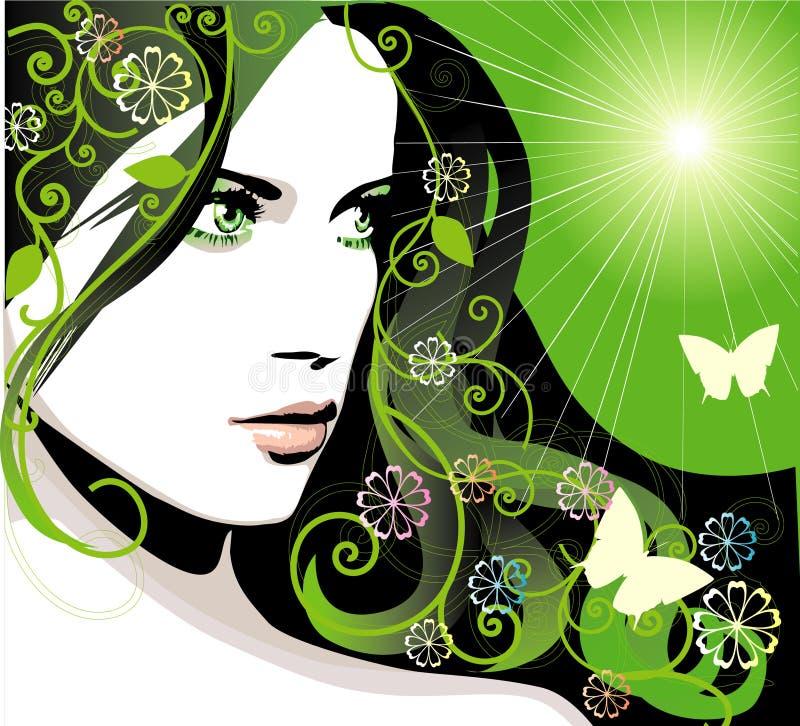 Het meisje van de lente vector illustratie