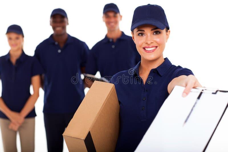 Het meisje van de levering stock afbeeldingen