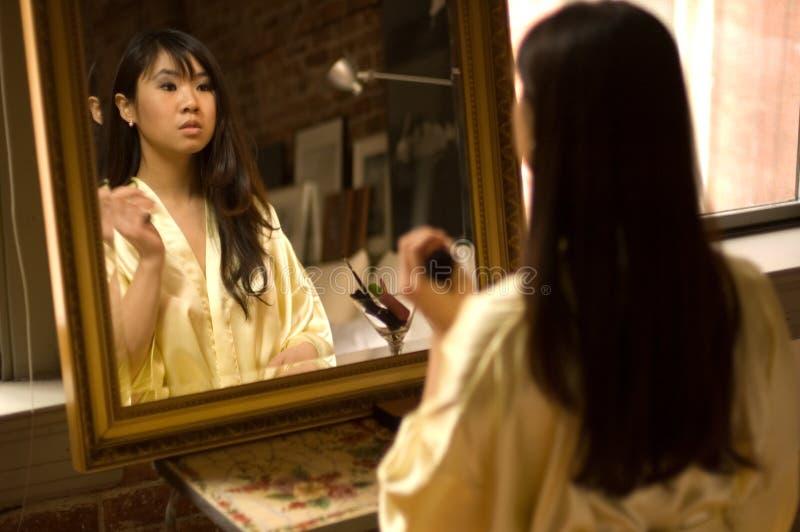 Het meisje van de make-up royalty-vrije stock foto's
