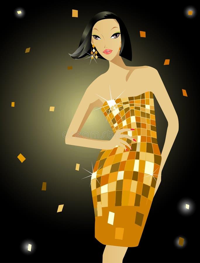 Het meisje van de manier royalty-vrije illustratie