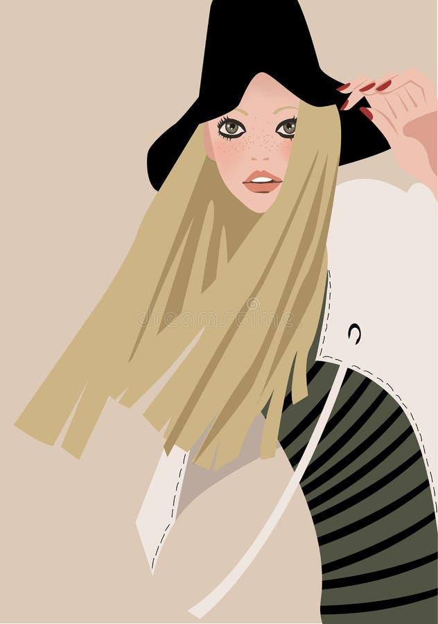 Het meisje van de manier vector illustratie