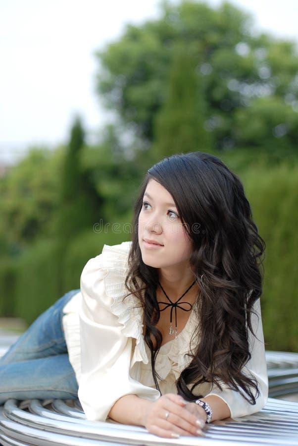 Het meisje van de manier royalty-vrije stock fotografie