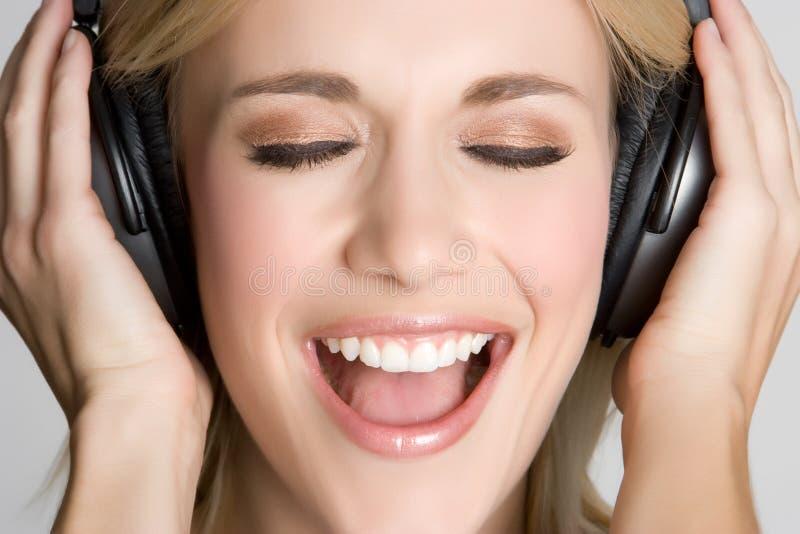 Het Meisje van de muziek stock afbeeldingen