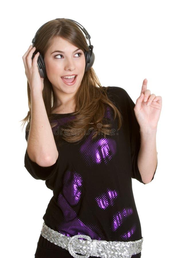 Het Meisje van de Muziek van de tiener stock afbeeldingen