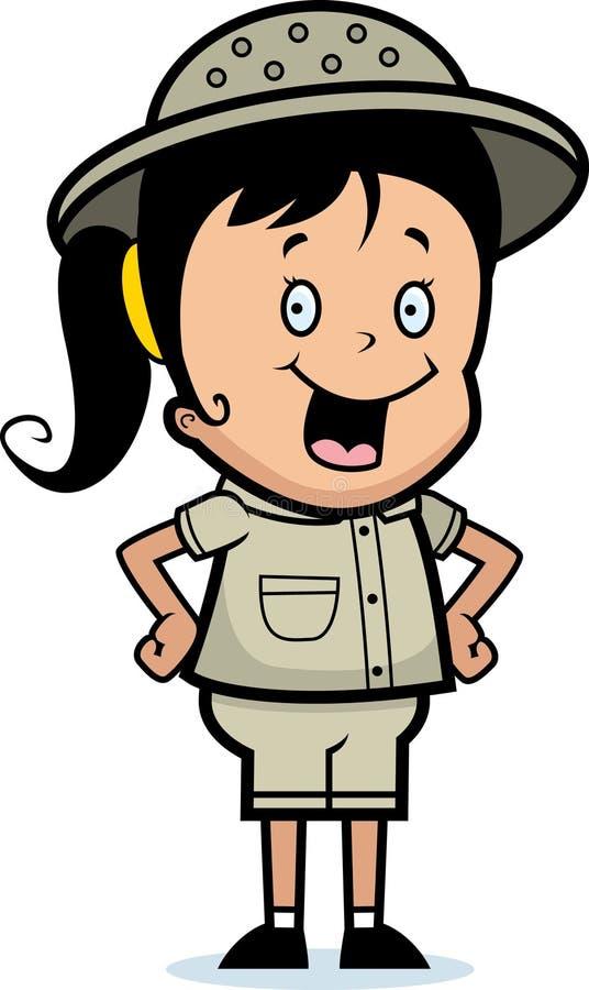 Het Meisje van de ontdekkingsreiziger vector illustratie