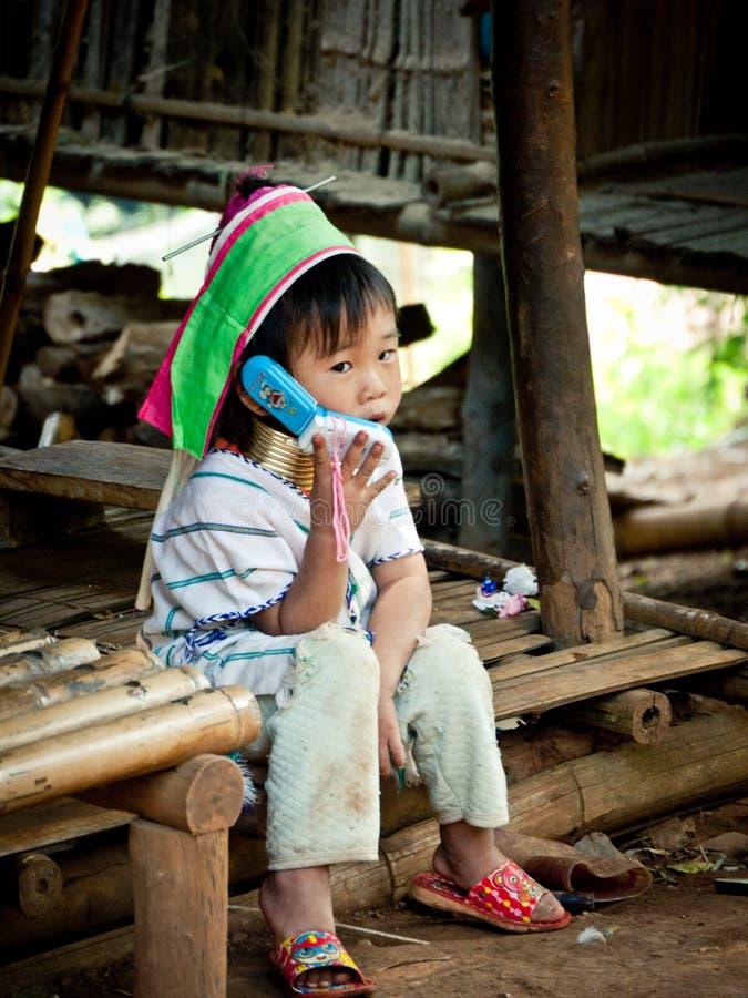 Het meisje van de Padaungstam royalty-vrije stock afbeelding