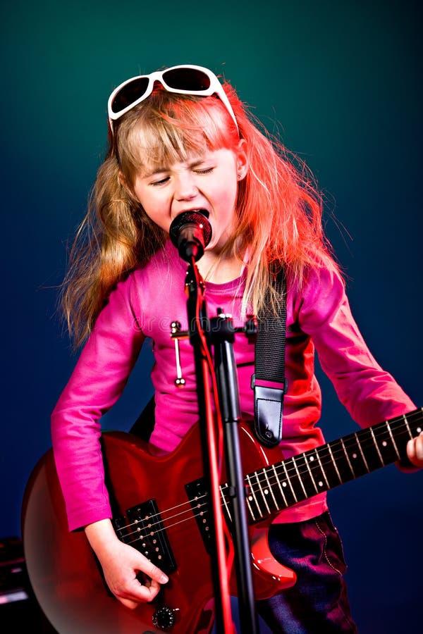 Het meisje van de rock royalty-vrije stock foto