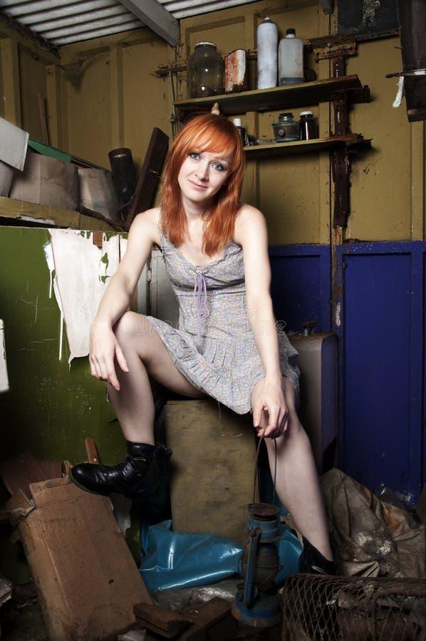 Het meisje van de roodharige stock foto's