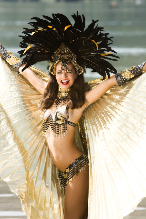 Het meisje van de samba royalty-vrije stock fotografie