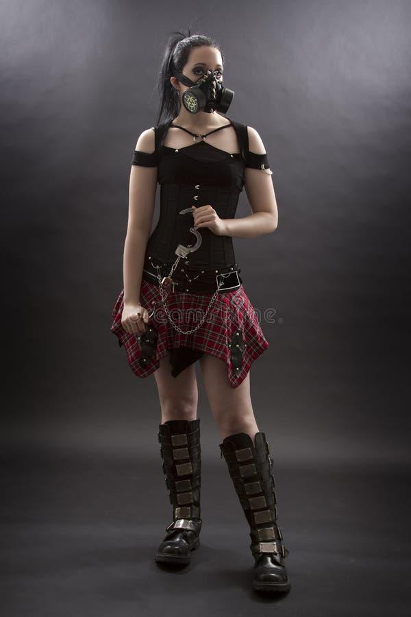 Het meisje van de school goth royalty-vrije stock fotografie