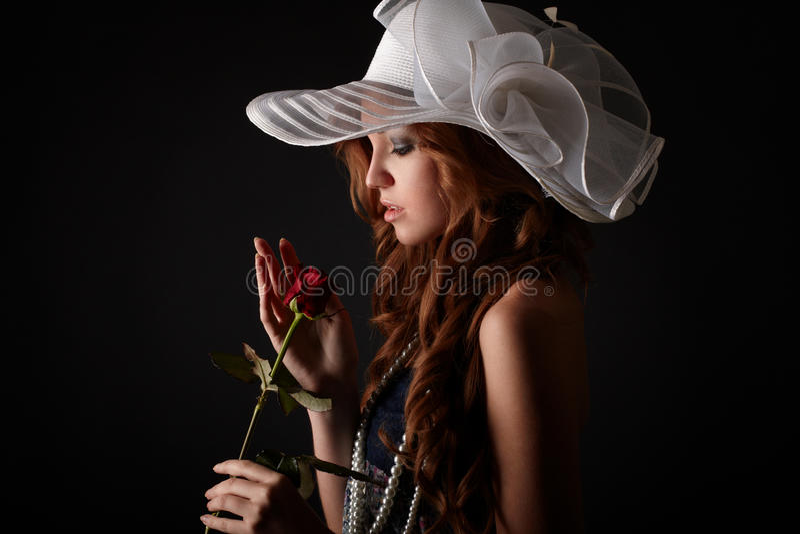 Het meisje van de schoonheid royalty-vrije stock afbeelding