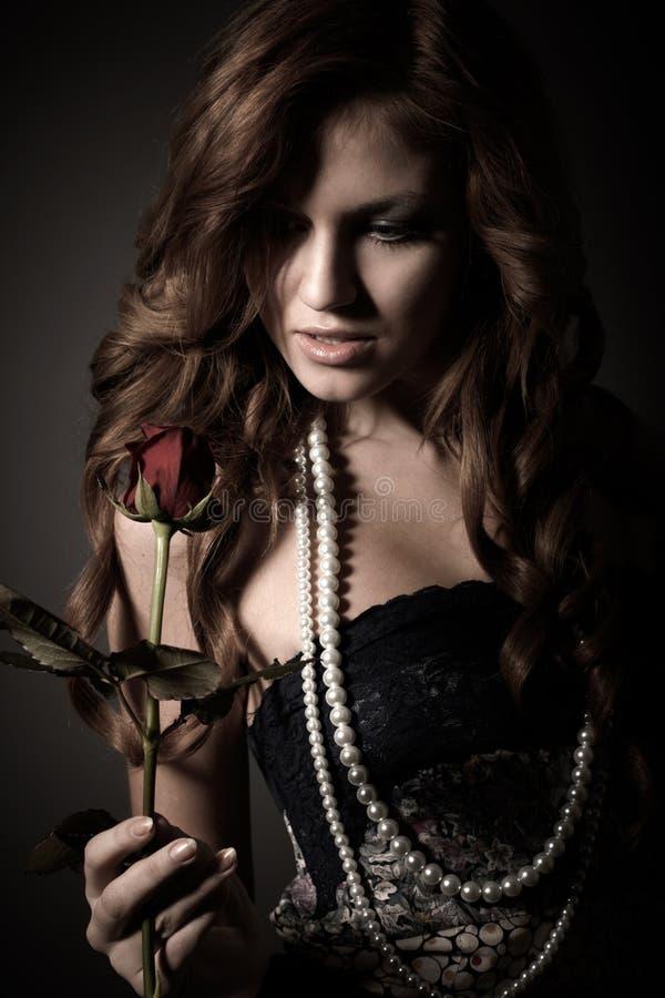 Het meisje van de schoonheid royalty-vrije stock foto