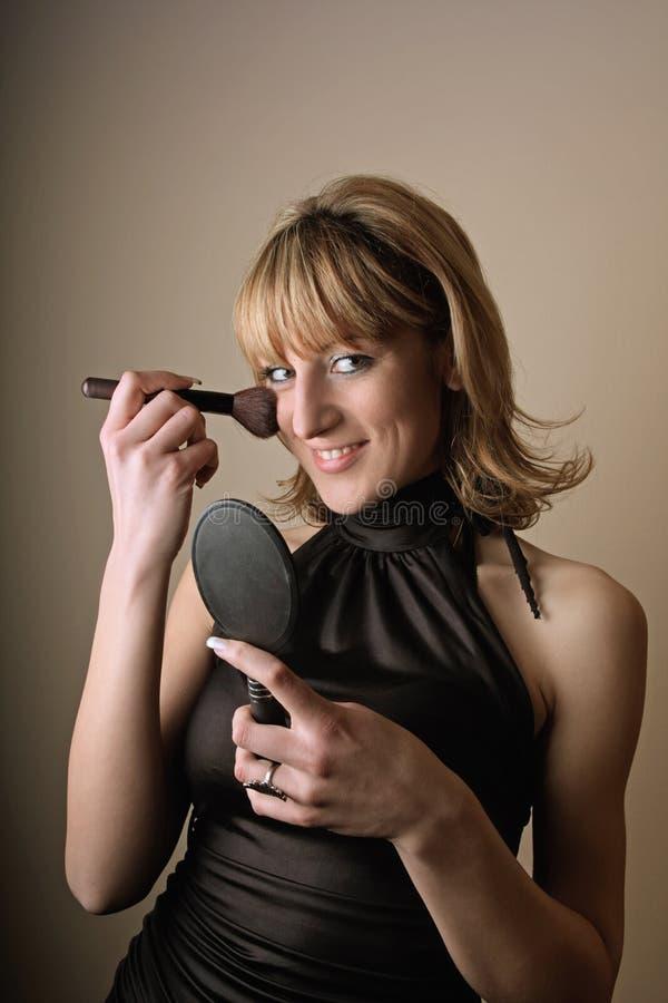 Het meisje van de schoonheid met make-up stock foto's