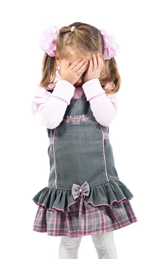 Het meisje van de schreeuw. Het schot van de studio. royalty-vrije stock afbeeldingen