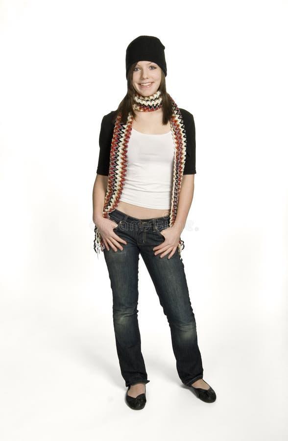 Het Meisje van de sjaal stock foto's