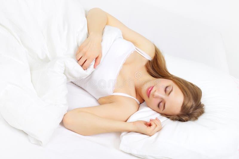 Het Meisje van de slaap royalty-vrije stock afbeeldingen