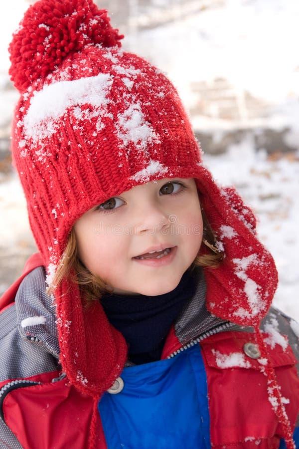 Het meisje van de sneeuw stock afbeelding