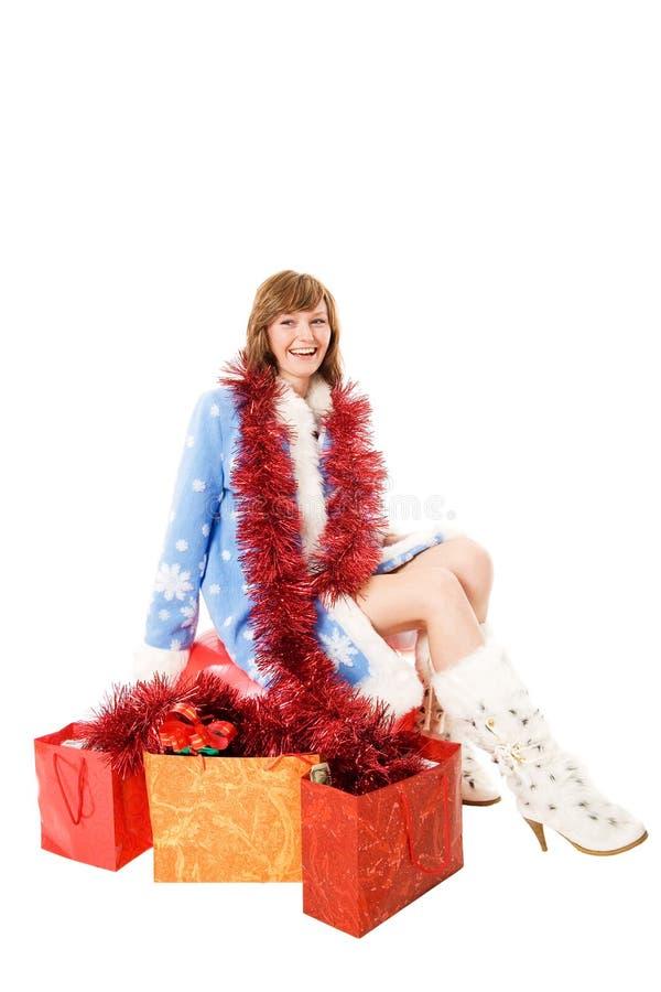 Het Meisje van de sneeuw royalty-vrije stock afbeeldingen