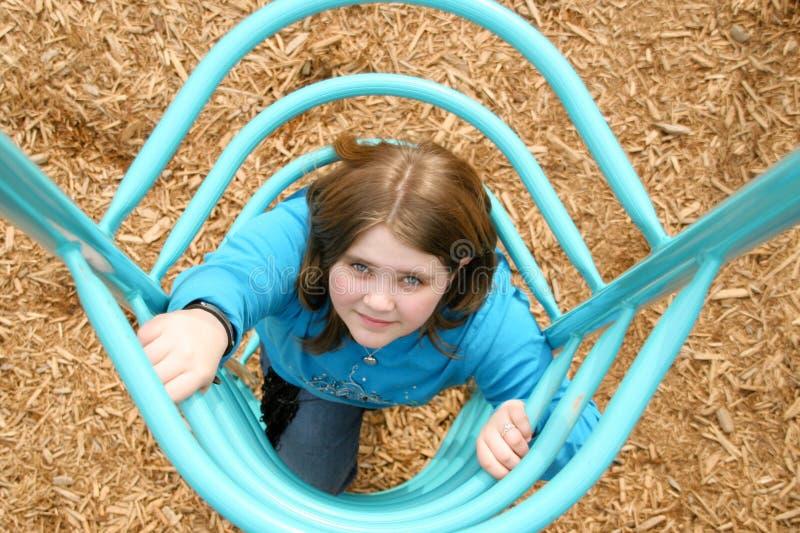 Het meisje van de speelplaats royalty-vrije stock foto