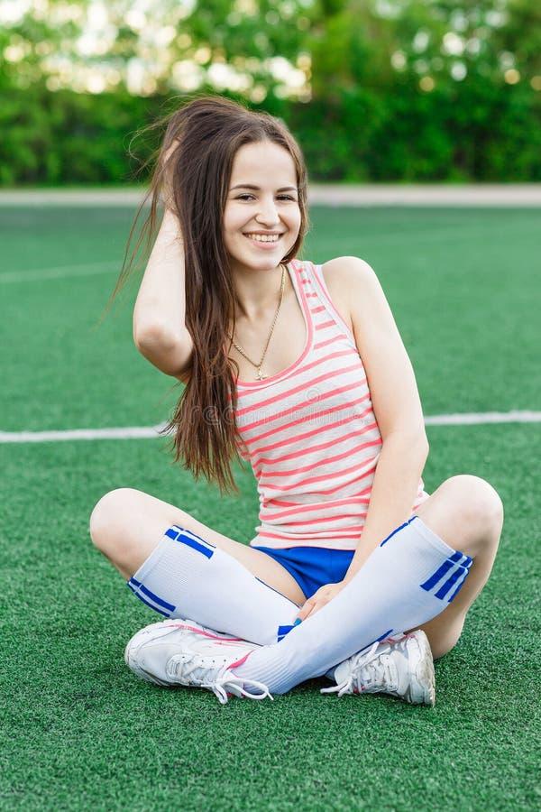 Het meisje van de sport stock afbeelding