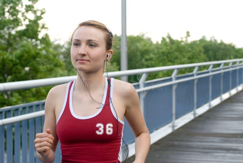 Het meisje van de sport royalty-vrije stock afbeelding