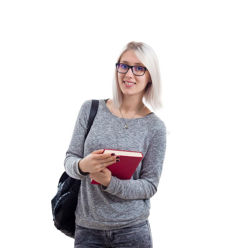 Het meisje van de student royalty-vrije stock fotografie